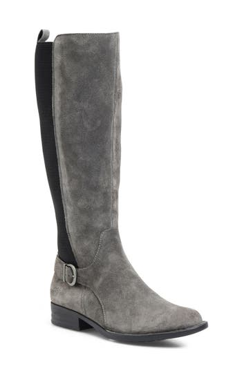 B?rn Campbell Knee High Elastic Back Boot, Grey