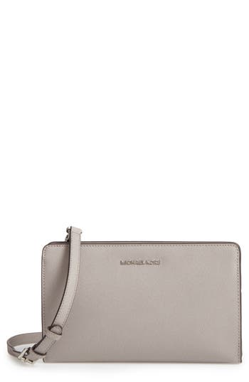 Michael Michael Kors 'Large Jet Set Travel' Crossbody Bag - Grey