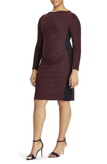 Plus Size Women's Ralph Lauren Colorblock Sheath Dress