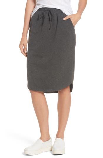 Women's Bobeau Jogger Stretch Midi Skirt, Size X-Small - Grey