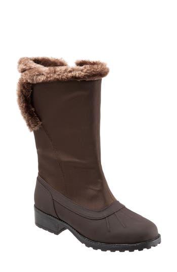 Trotters Bowen Waterproof Boot, Brown