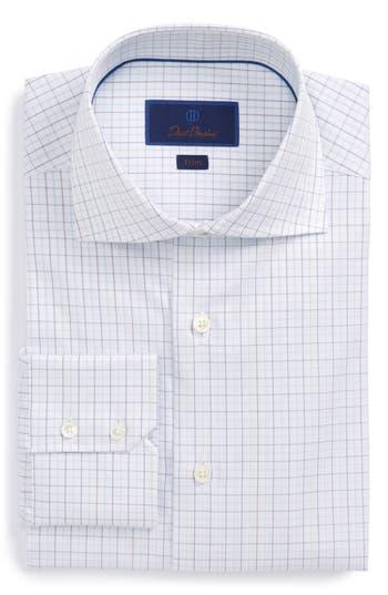 Men's David Donahue Trim Fit Tattersall Dress Shirt