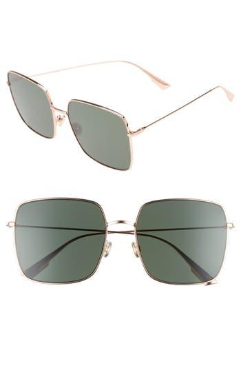 Women's Dior Stellaire 1 59Mm Square Sunglasses - Gold Copper