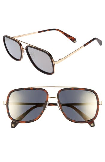 Men's Polaroid 6033S 57Mm Polarized Sunglasses - Black