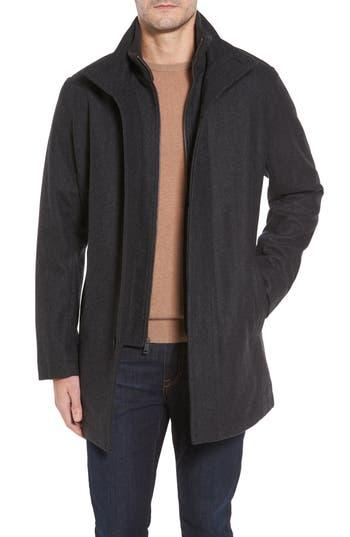 Men's Cole Haan Melton Wool Blend Coat
