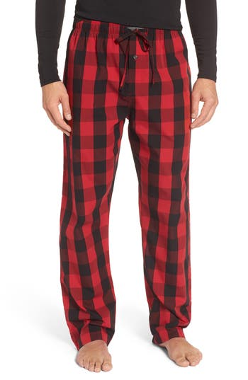 Men's Polo Ralph Lauren Plaid Cotton Lounge Pants, Size Small - Red