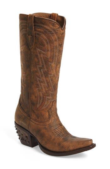 Ariat Diamante Studded Heel Western Boot, Brown