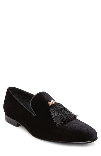 Steve Madden Liberty Tassel Loafer, Black