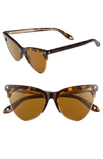 Givenchy 5m Polarized Cat Eye Sunglasses - Dark Havana