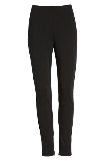 Chaus Zip Ankle Ponte Knit Leggings, Black