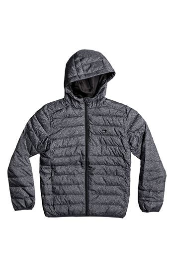 Boy's Quiksilver Scaly Water Resistant Hooded Puffer Jacket