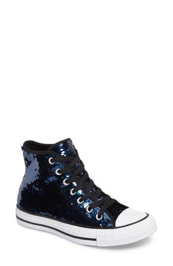 Women's Converse Chuck Taylor All Star Sequin High Top Sneaker, Size 5 M - Blue
