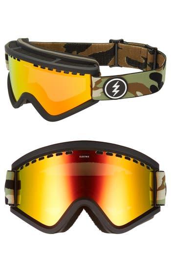 Women's Electric Egv Snow Goggles - Camo/ Red Chrome