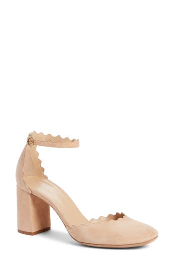 Women's Chloé Scalloped Ankle Strap D'Orsay Pump