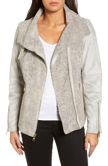 Women's Vince Camuto Faux Shearling Jacket, Size X-Small - Grey