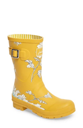 Women's Joules 'Molly' Rain Boot, Size 5 M - Yellow