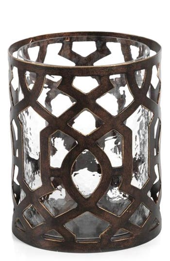 Zodax Small Trocadero Hurricane Candle Holder, Size One Size - Metallic