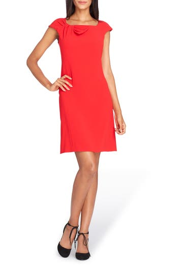 Petite Women's Tahari Bow Neck Sheath Dress