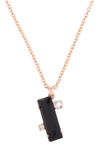 Women's Ted Baker London Blaeke Baguette Pendant Necklace
