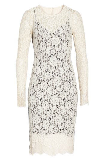 Vince Camuto Lace Sheath Dress, Ivory