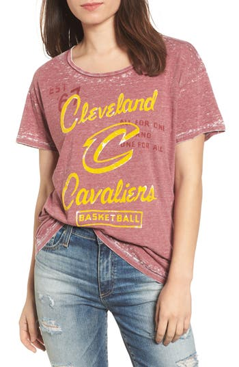 Women's Junk Food Nba Cleveland Cavaliers Tee, Size X-Small - Burgundy