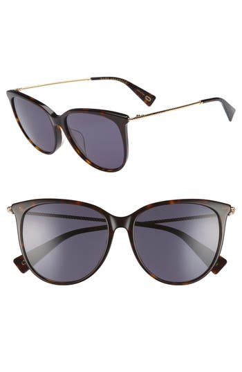 Women's Marc Jacobs 56Mm Cat Eye Sunglasses - Dark Havanna