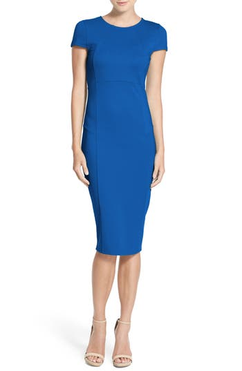 Felicity & Coco Ward Seamed Pencil Dress, Blue