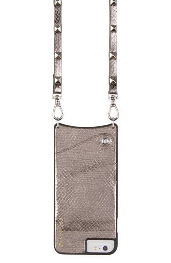 Bandolier Sarah Metallic Faux Snakeskin Iphone 6/7/8 & 6/7/8 Plus Crossbody Case - Metallic