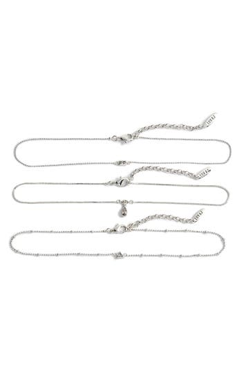 Luv Aj HANGING STONE SET OF THREE CHOKER NECKLACES
