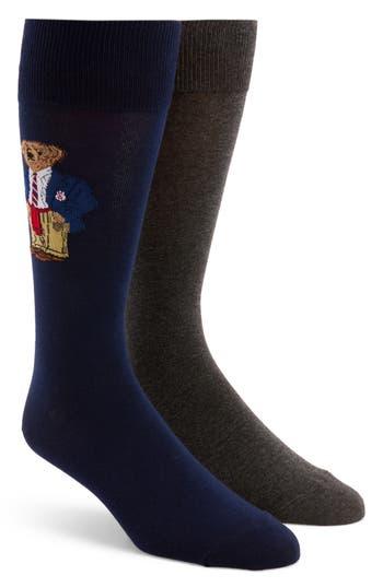 Men's Polo Ralph Lauren 2-Pack Preppy Bear Socks