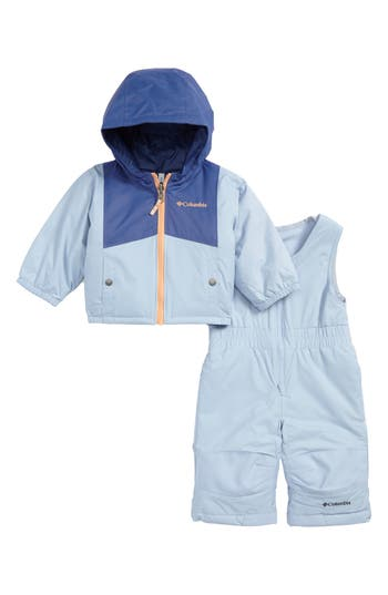 Infant Girl's Columbia Double Flake Waterproof Insulated Jacket & Bib Snowsuit