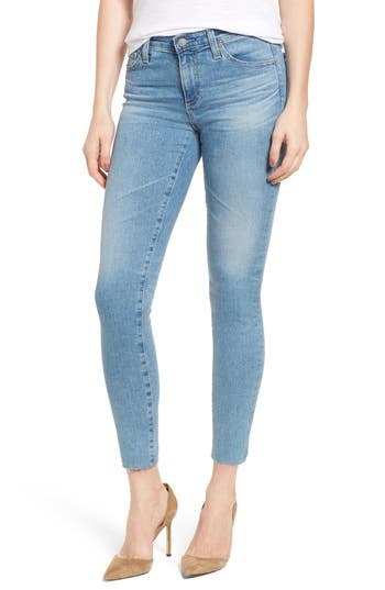 Ag Ankle Skinny Leggings, Blue