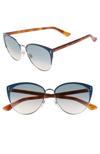 Gucci 5m Cat Eye Sunglasses - Blue