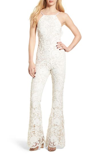 992b8f2570f Stone Cold Fox Dylan Lace Jumpsuit In White Lace