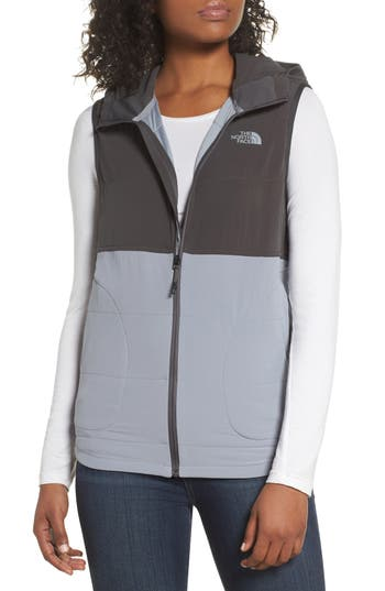 The North Face Mountain Sweatshirt Insulated Hooded Vest, Grey
