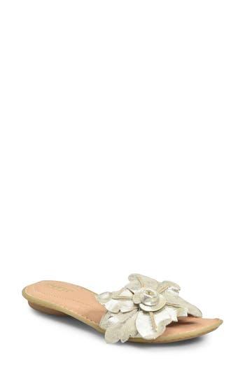 Women's B?rn Mai Floral Sandal, Size 9 M - Metallic