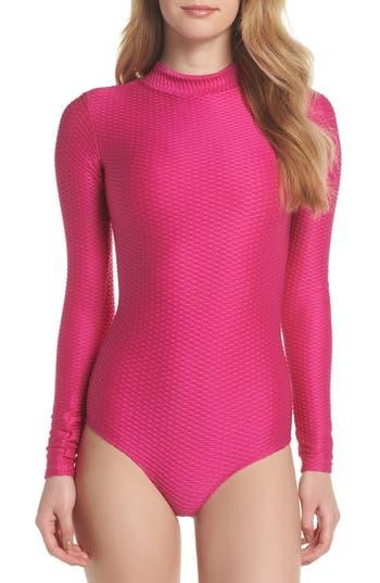 Mott 50 Long Sleeve One-Piece Swimsuit, Pink