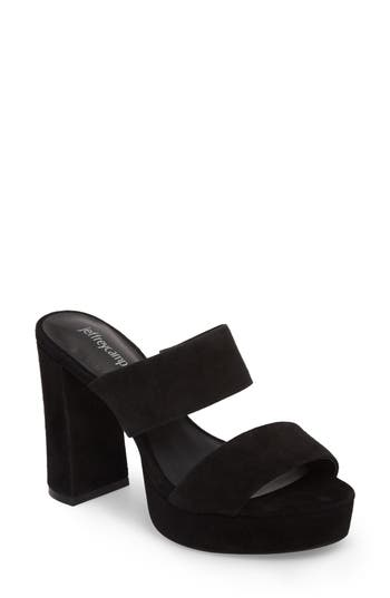 Jeffrey Campbell Adriana Double Band Platform Sandal- Black