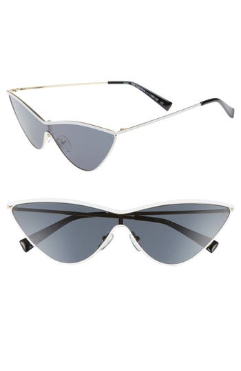 Adam Selman X Le Specs Luxe The Fugitive 71Mm Sunglasses - White