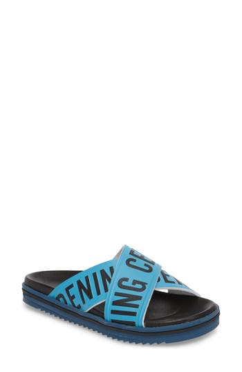 Women's Opening Ceremony Berkeley Slide Sandal, Size 35 EU - Blue
