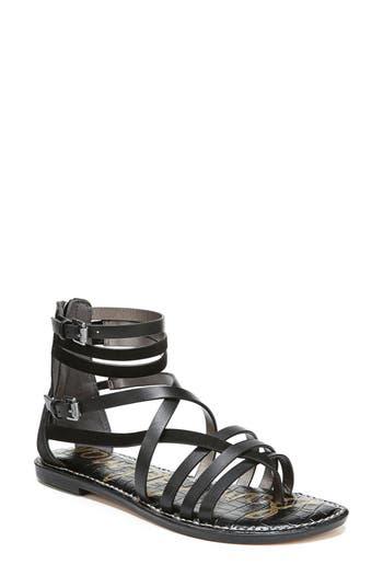 Women's Sam Edelman Ganesa Strappy Sandal, Size 6.5 M - Black