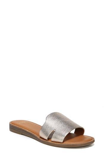 Women's Sarto By Franco Sarto Ginelle Slide Sandal, Size 10 M - Metallic