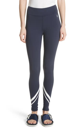 Tory Sport Chevron Leggings, Blue