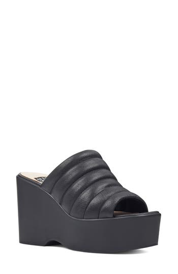 Women's Nine West Millie - 40Th Anniversary Capsule Collection Platform Wedge, Size 5.5 M - Black