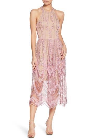 Valerie Halter Dress, Lilac/ Nude