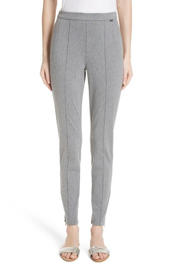 St. John Collection Denim Ponte Crop Leggings, Grey