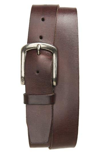 John Varvatos Star Usa Classic Leather Belt, Dark Brown