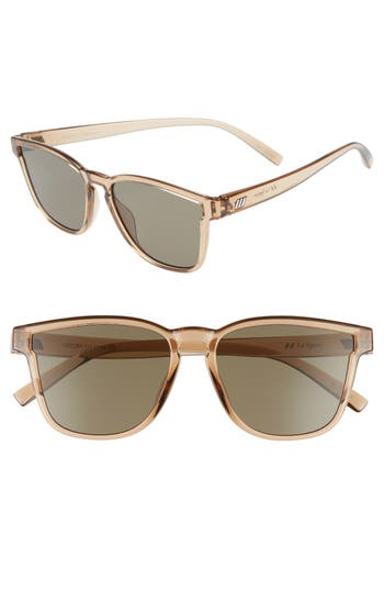 Unique Retro Vintage Style Sunglasses & Eyeglasses Womens Le Specs History 53Mm Modern Rectangle Sunglasses - Tan $69.00 AT vintagedancer.com