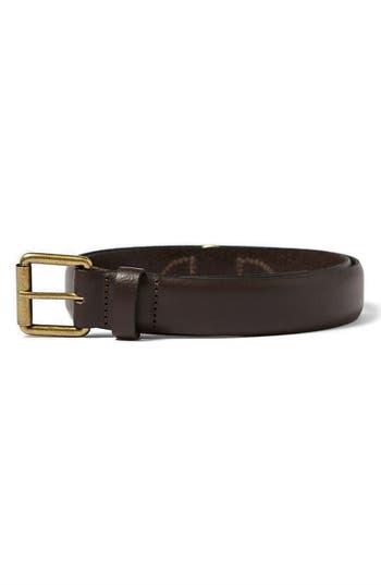 Topman Leather Belt, Dark Brown