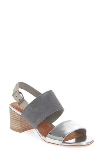 Women's Toms Poppy Sandal, Size 12 M - Metallic